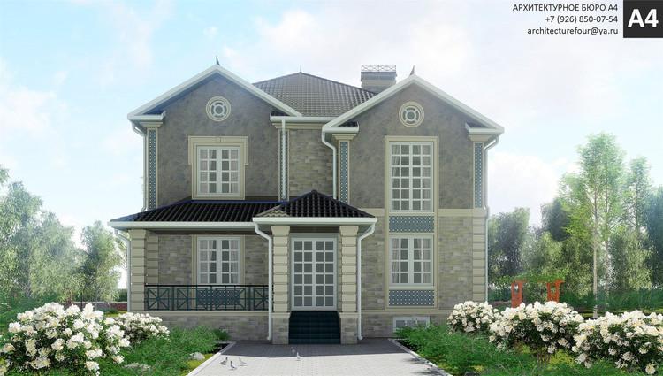 Проект индивидуального жилого дома 384м2.