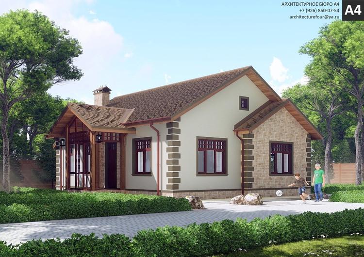 Проект индивидуального жилого дома 110м2.