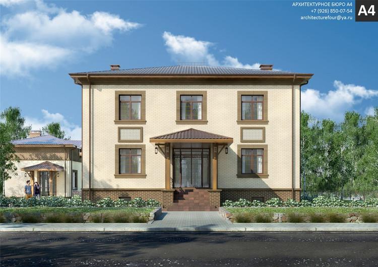 Проект индивидуального жилого дома 386м2.