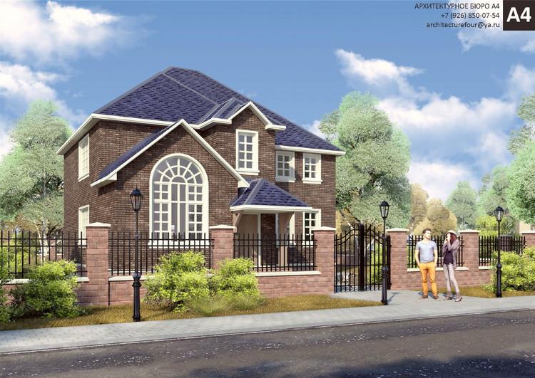 Проект индивидуального жилого дома 150м2.