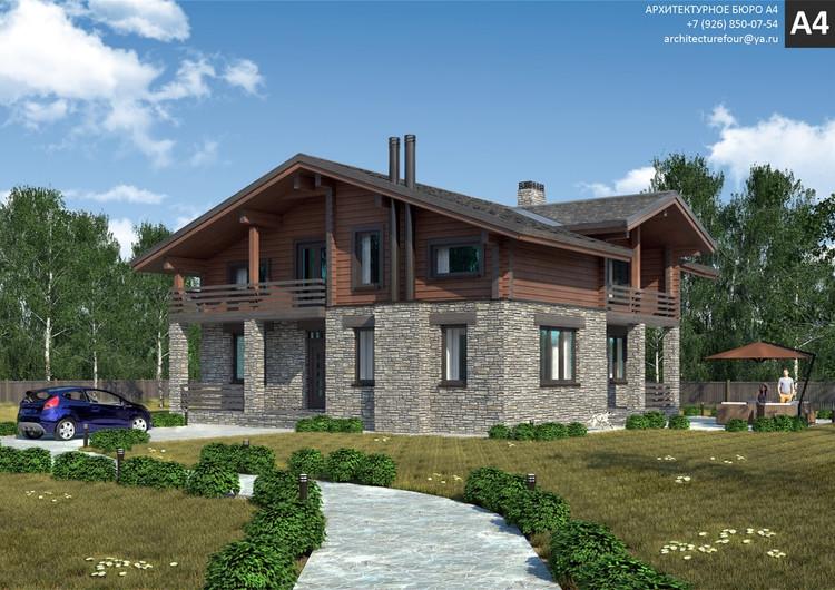 Проект индивидуального жилого дома 156м2.