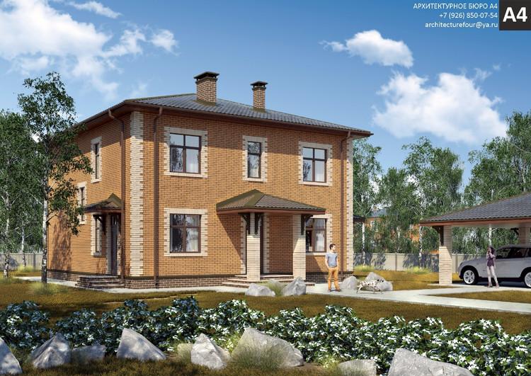 Проект индивидуального жилого дома 205м2.