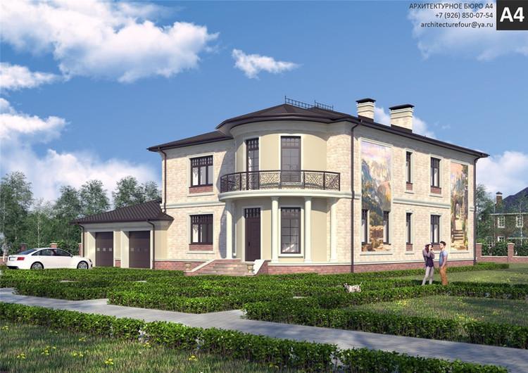 Проект индивидуального жилого дома 500м2.