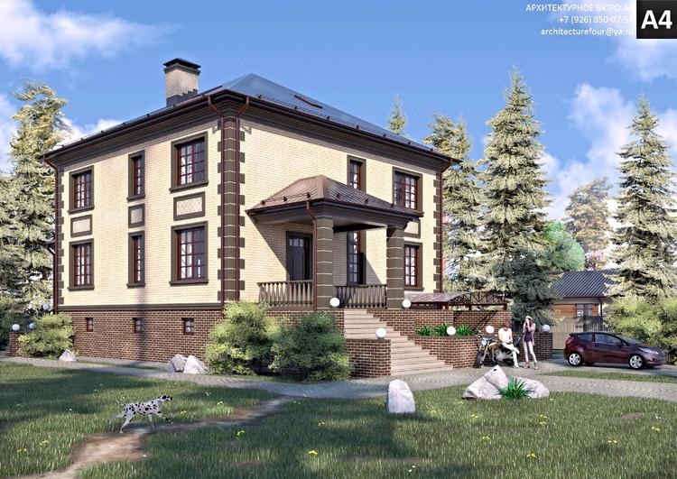 Проект индивидуального жилого дома 370м2.