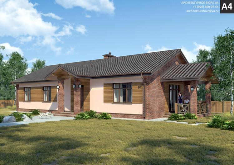 Проект индивидуального жилого дома 115м2.