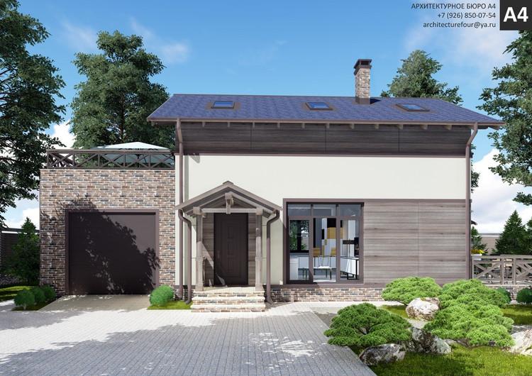 Проект индивидуального жилого дома 140м2.