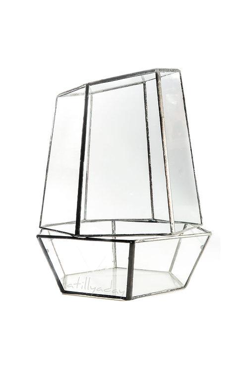 Hexagon Base 2 Piece Geometric Glassware