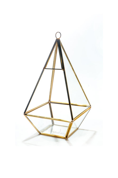 Geometric Glassware with Square Base