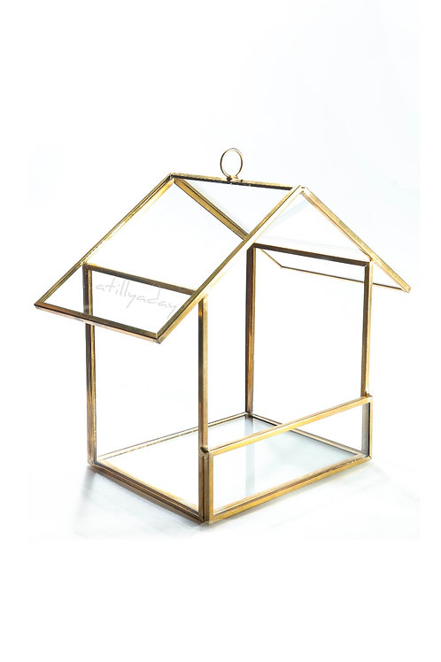 House shaped Geometric Glassware