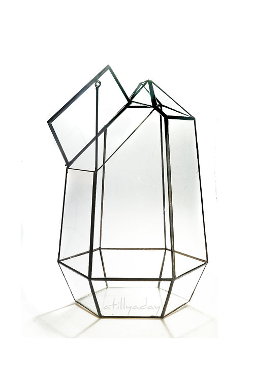 Geometric Glassware with Top Window