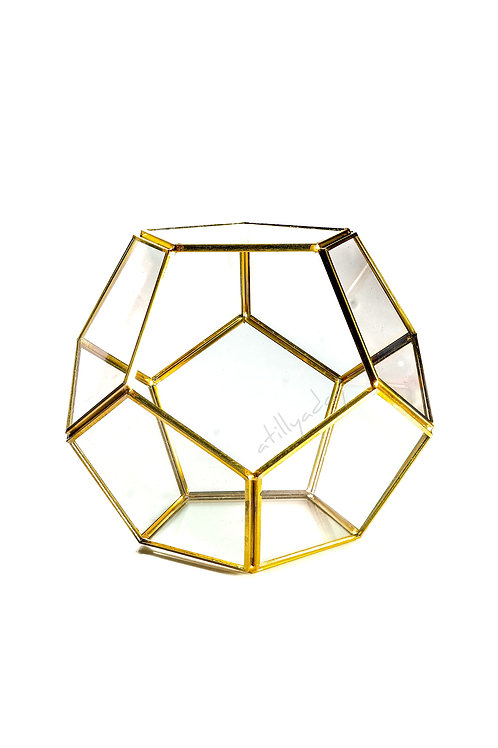 Pentagon shaped Geometric Glassware