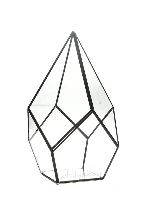 Diamond shaped Glassware with Lid