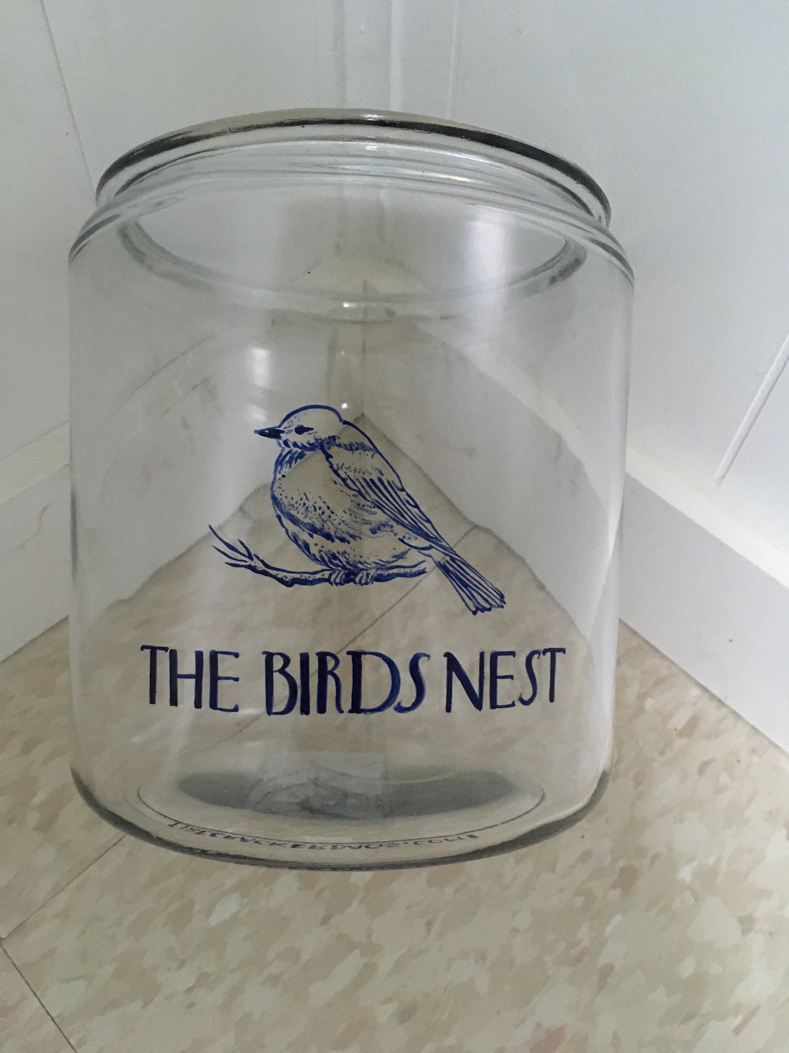 cookie jar hand painted with name and symbol of client's house