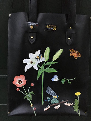 Beebe Co. bag hand painted