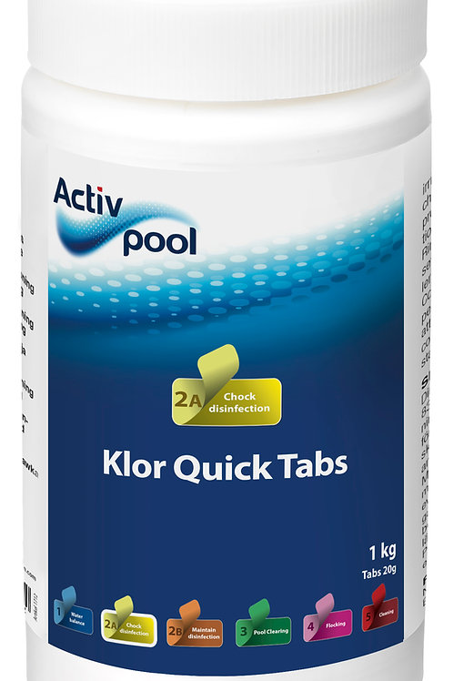 ActivPool Klor QuickTabs 20G 1 kg
