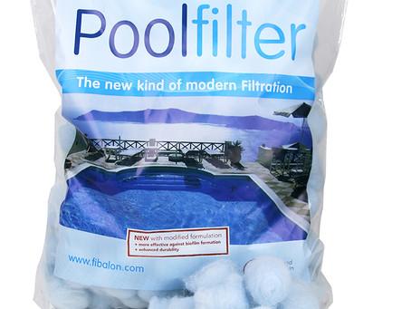 FIBALON giver dig helt rent og krystalklart vand imens du spare på energi, kemi og vandforbrug!
