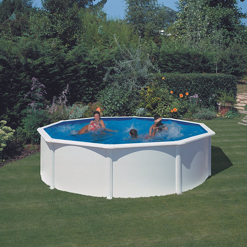 Pool white steel eco Ø460x120