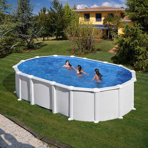 Pool white steel 610x375x132
