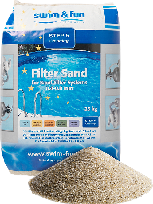 Filtersand 25 kg 0,4 - 0,8mm