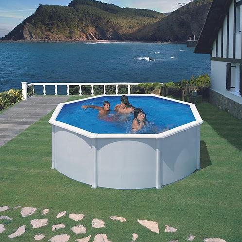 Pool white steel eco Ø350x120