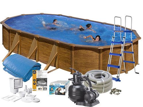 Pool Basic Wood Imitation 6.10x3.75x1,20