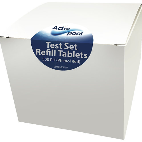 Refill 500 Tablets Red Phenol