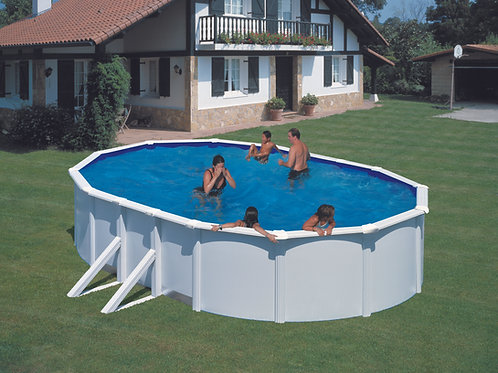 Pool white steel eco 500x350x120