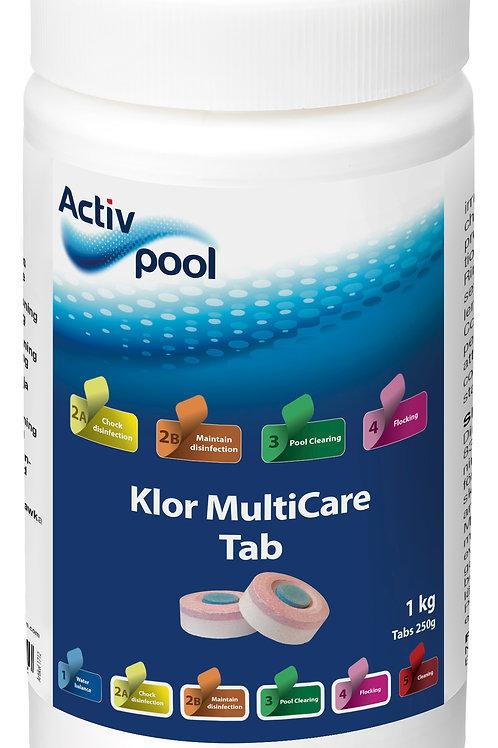 ActivPool Klor MultiCareTab 250G 1kg