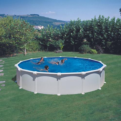 Pool white steel Ø550x132M