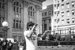Performing at Oakland City Hall