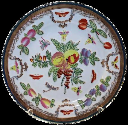 Fruit Plate w/Gold Leaf