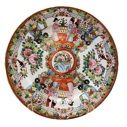 Medallion Rose Plate
