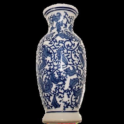 Blue & White Lobe Wall Vase
