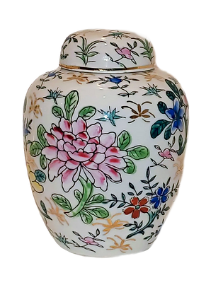 Hand-Painted Ginger Pot