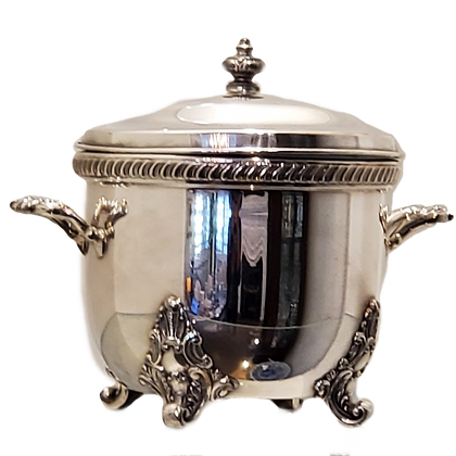 Vintage Silver Ice Bucket w/Feet