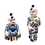 Thumbnail: Blue & White Asian Baby in PJs Figurines (set of two)