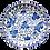 Thumbnail: Vintage Blue & White Nippon Tokusei Blue Dragon Porcelain Plate