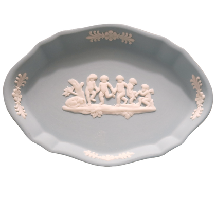 Wedgwood Blue Oval Catch-All Dish
