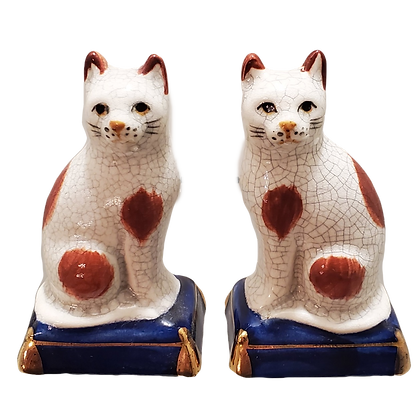 Fitz & Floyd Staffordshire Cat Salt & Pepper Shakers