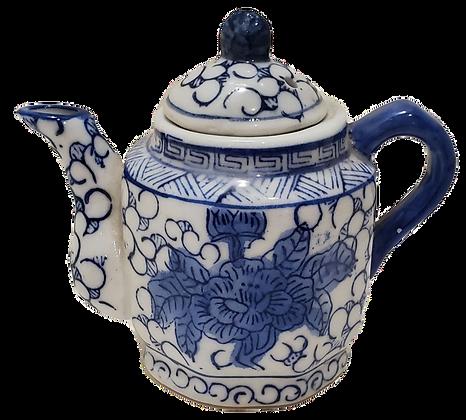 Blue & White Mini Tea Pot