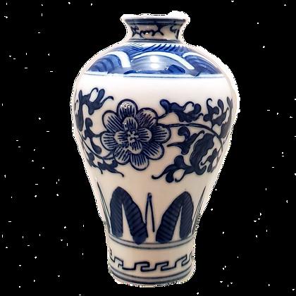 Blue & White Small Plum-Shaped Vase