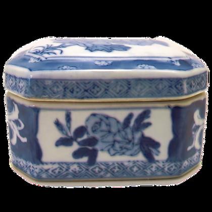 Blue & White Porcelain Trinket Box