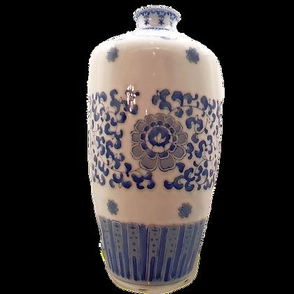 Blue & White Large Plum-Shaped Vase