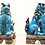 Thumbnail: Turquoise Foo Dogs (set of two)