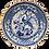 Thumbnail: Blue & White Scalloped-Edge Plate w/Peacock