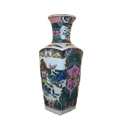 Square Hand-Painted Imari Vase