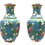 Thumbnail: Aqua Cloisonne Vases (set of two)