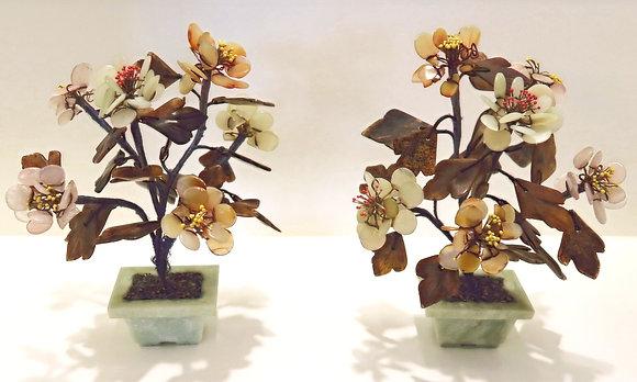 Jade & Agate Bonsai (set of two)