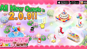 Celebrate Hello Kitty's upcoming birthday in Hello Kitty Jewel Town!