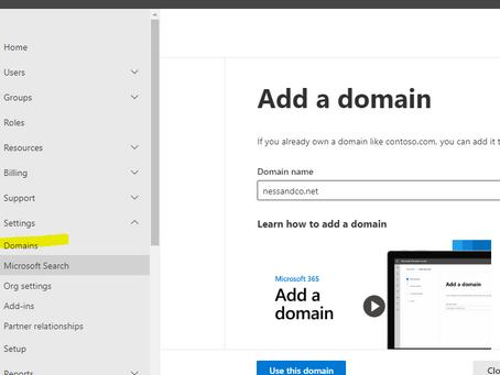 איך לצרף אתר אינטרנט לOffice 365